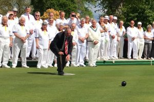 Taunton Bowling Club President Taking First Shot Of Season