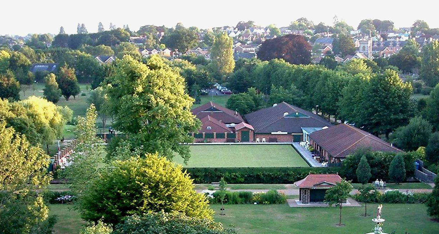 Taunton Bowling Club Aerial View Green