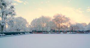 Taunton Bowling Club Snowed Over